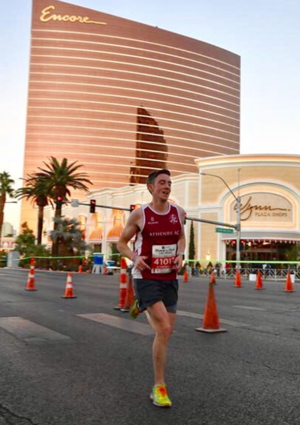 Fergal running in vegas 2018